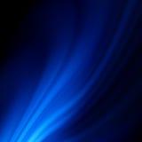 Blått smooth ljusa linjer bakgrund för twisten. EPS 8 Royaltyfria Bilder