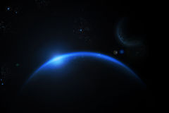 blått universum Royaltyfri Foto