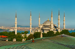 Blåttmoské i Istanbul Royaltyfri Foto