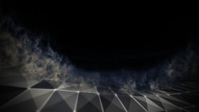 Blu astratto 3d Mesh Sphere distorto Illuminated Segno al neon Tecnologia futuristica HUD Element Estratto elegante Fotografie Stock Libere da Diritti