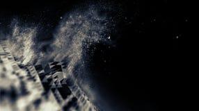 Blu astratto 3d Mesh Sphere distorto Illuminated Segno al neon Tecnologia futuristica HUD Element Estratto elegante Immagini Stock Libere da Diritti