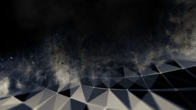 Blu astratto 3d Mesh Sphere distorto Illuminated Segno al neon Tecnologia futuristica HUD Element Estratto elegante Immagine Stock