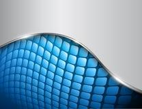 Blu astratto del fondo 3D Fotografia Stock
