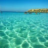 Blu Beach paradis Royaltyfri Bild