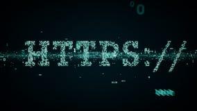 Blu binario di parole chiavi HTTPS royalty illustrazione gratis