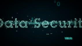 Blu binario di protezione dei dati di parole chiavi illustrazione vettoriale