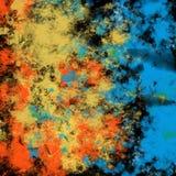 Blu creativo astratto artistico di struttura del grafico sporco del fondo della spruzzata dell'inchiostro di colore di lerciume g fotografia stock libera da diritti