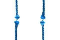 Blu cut rope stock photography