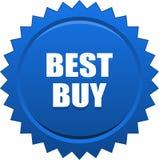 Blu del bollo della guarnizione di Best Buy Immagine Stock