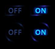 Blu del bottone Immagini Stock