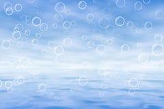 Blu del mare immagine stock