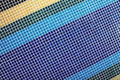 Blu del mosaico Fotografie Stock