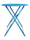 Blu del tavolo pieghevole Immagini Stock