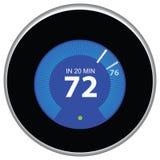 Blu del termostato del nido Fotografia Stock