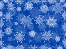 Blu delicato del fondo del fiocco di neve di natale bianco Immagini Stock Libere da Diritti