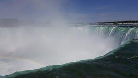 Blu dell'acqua del paesaggio dell'arcobaleno di cascate del Niagara immagini stock
