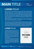Blu dell'aletta di filatoio con il quadrato Fotografia Stock Libera da Diritti
