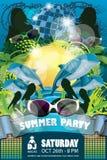 Blu dell'aletta di filatoio del partito di estate immagine stock libera da diritti