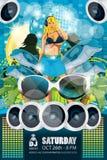 Blu dell'aletta di filatoio del partito di estate fotografia stock libera da diritti