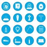 Blu dell'icona di sepoltura e di funerale illustrazione di stock