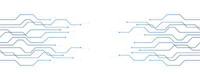 Blu dell'insegna di tecnologia digitale di elettronica del circuito illustrazione vettoriale