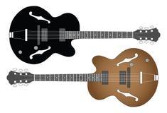 Blu della chitarra Fotografia Stock