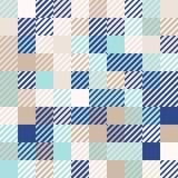 blu della Menta-oro-marina, fondo geometrico astratto colorato casuale del modello di mosaico Fotografia Stock