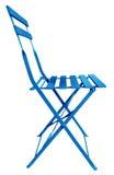 Blu della sedia pieghevole Fotografia Stock