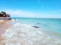 Blu della spiaggia fotografia stock libera da diritti