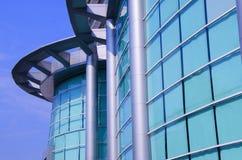 Blu dello specchio della costruzione Fotografie Stock