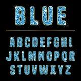 Blu di alfabeto di scintillio Fotografia Stock Libera da Diritti