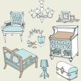Blu di colore della decorazione provance1 della mobilia Fotografia Stock Libera da Diritti