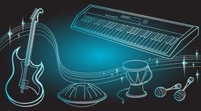 Blu di colore di musica dei ragazzi Immagini Stock