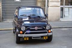 Blu di Fiat 500 immagine stock libera da diritti