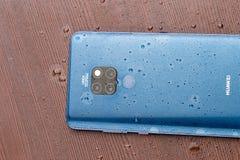 Blu di mezzanotte del compagno 20 di Huawei fotografia stock libera da diritti