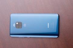 Blu di mezzanotte del compagno 20 di Huawei immagini stock libere da diritti