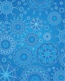 Blu di progettazione del medaglione di vettore Fotografia Stock