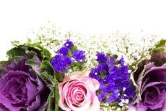 Blu 1 di rosa della decorazione del fiore Immagine Stock Libera da Diritti