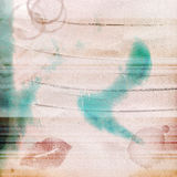 Blu di rosa delle macchie delle labbra di sguardo indossato fondo di lerciume strutturato Fotografie Stock Libere da Diritti
