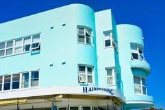 Blu di turchese Art Deco Apartment Building, spiaggia di Bondi, Sydney, Australia fotografie stock libere da diritti
