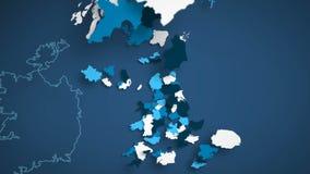Blu e bianco BRITANNICI illustrazione di stock