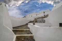 Blu e bianco di Cycladic immagine stock