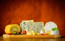 Blu e formaggio a pasta molle Fotografia Stock