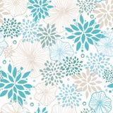 Blu e gray pianta il fondo senza cuciture del modello illustrazione vettoriale