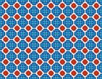 Blu e rose rosse medievali Immagine Stock Libera da Diritti