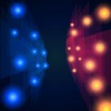 Blu e rosso rays il fondo astratto di prospettiva del mosaico royalty illustrazione gratis
