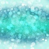 Blu e Teal Bokeh Design Pattern Fotografia Stock