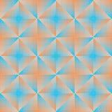 Blu ed arancia astratti geometrici del fondo Illustrazione Vettoriale
