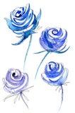 Blu elegante dell'acquerello Royalty Illustrazione gratis