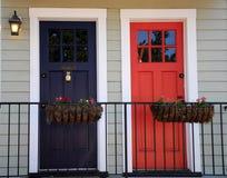 Blu en rood Royalty-vrije Stock Afbeelding